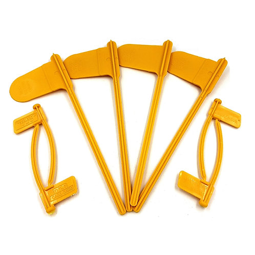 MTM Pistol & Rifle Chamber safety Flags, Yellow, One Size