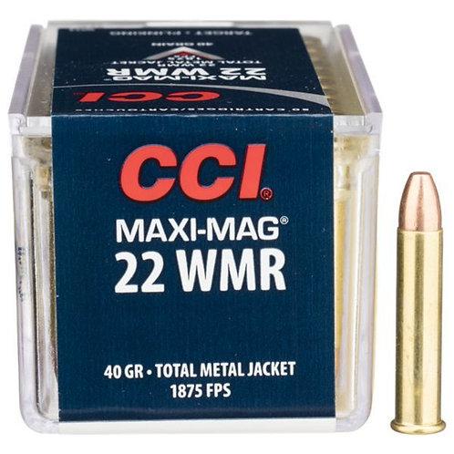 CCI .22WMR HS Maxi Mag Copper Solid 40gr (per100)