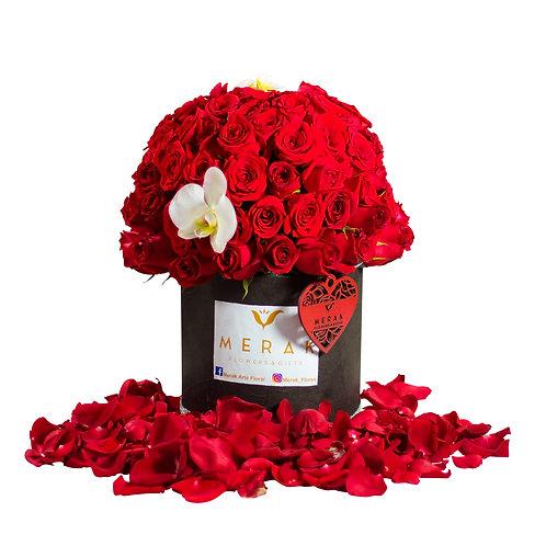 Caja de 90 rosas
