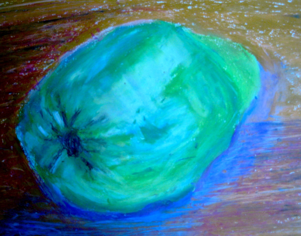 quince - oil pastel