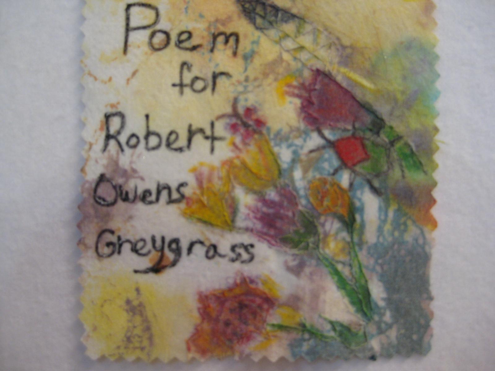Poem for Robert Owens Greygrass