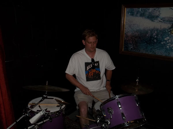 Josh on drums
