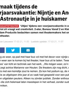 Online artikel in Het Algemeen Dagblad