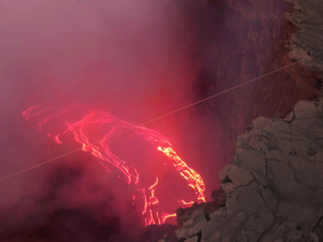 Zipline over the world's most active lava lake