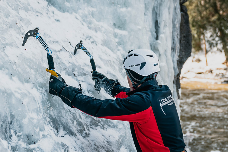 4 - Come experience our 60-foot ice clim