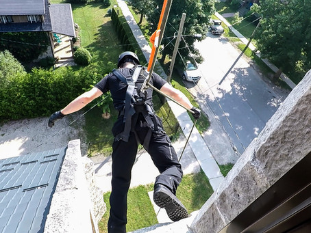 What the heck is urban rappelling?