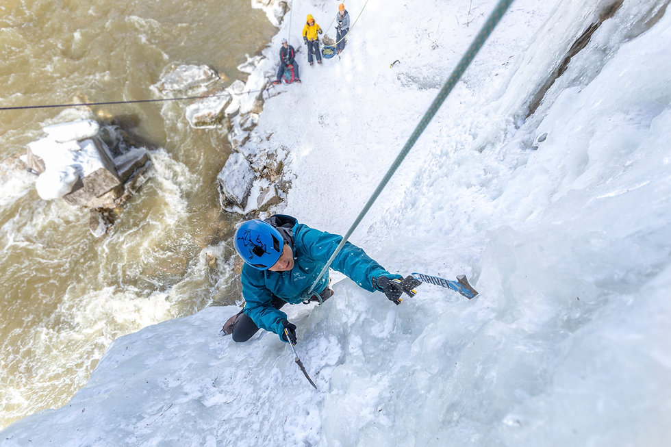 Ice Climbing Homepage banner - Come expe