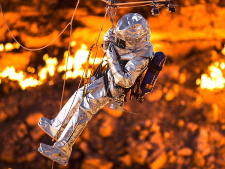 Setting World Records: First Traverse Over a Lava Lake and Fire