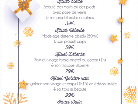 Le menu de noël