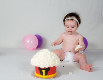 One Year Cake Smash--Aubree