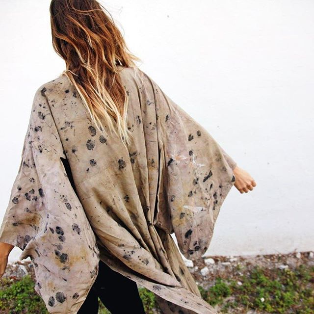 Vintage Silk kimono. Was white. I made it current