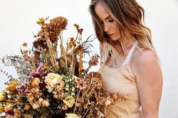Pretty little hoarder. Of flowers. Flower dyed silk slip dresses now available for custom orders