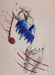 golfeur bleu