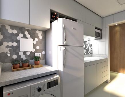 Cozinha e A.S Integradas