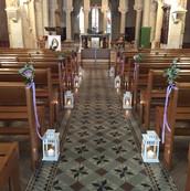 Lanternes dans la nef