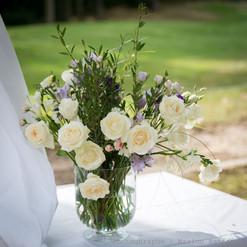 Bouquet près de l'officiant