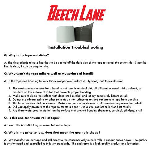 Beech lane rv sealant roof leak tape instructions
