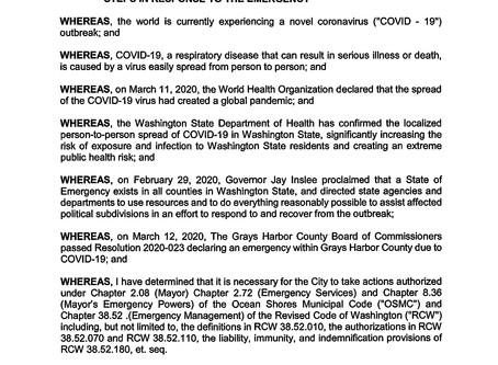 City Declaration of Emergency