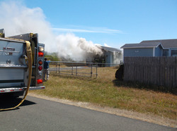 small garage fire
