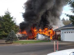 garage & RV fire
