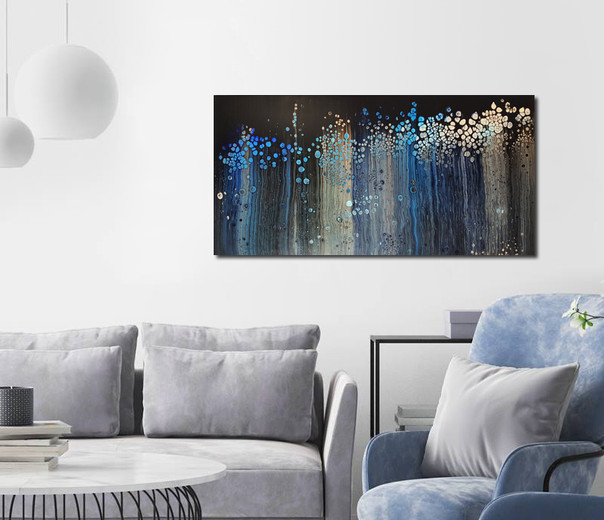 100-50 canvas Dreaming in Blue
