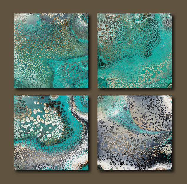 25-25 canvas Coral Reef