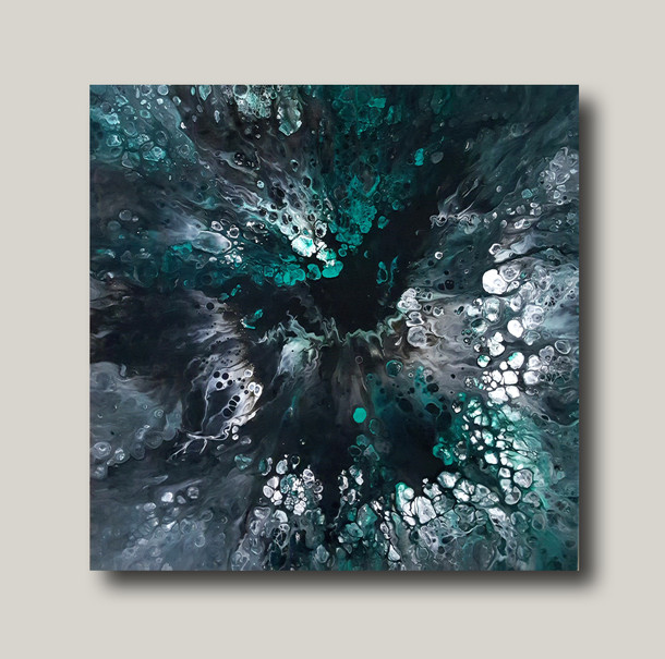 50-50 canvas Abyss of Winter Forest