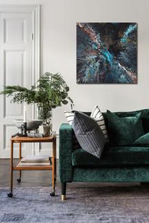50-50 canvas Magic Turquoise