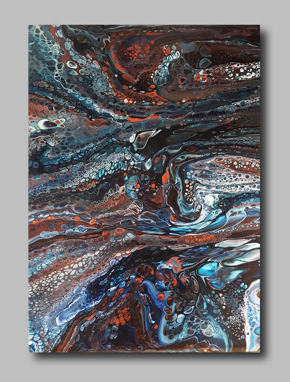 50-70 canvas Copper Stream