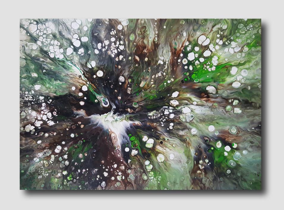 70-50 canvas Grain of Life II