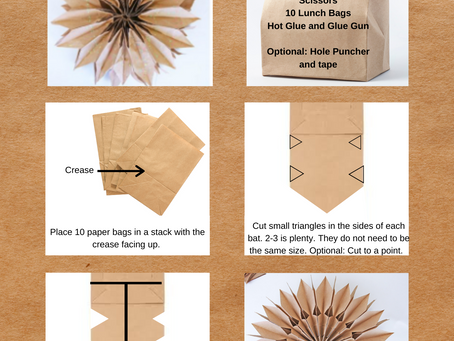 Giant Paper Bag Snowflake