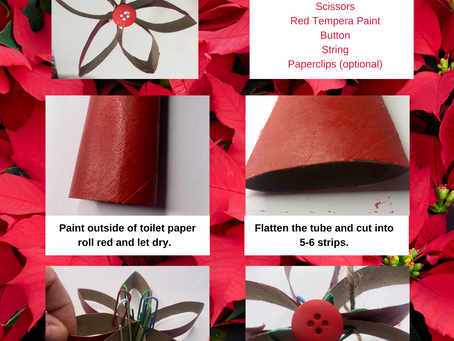 Toilet Paper Roll Poinsettia