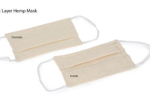 30x Reusable 3 Layer Hemp Face Mask