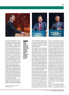 Véronique Pellerin est commentée dans ce papier du magazine entreprendre au Portugal