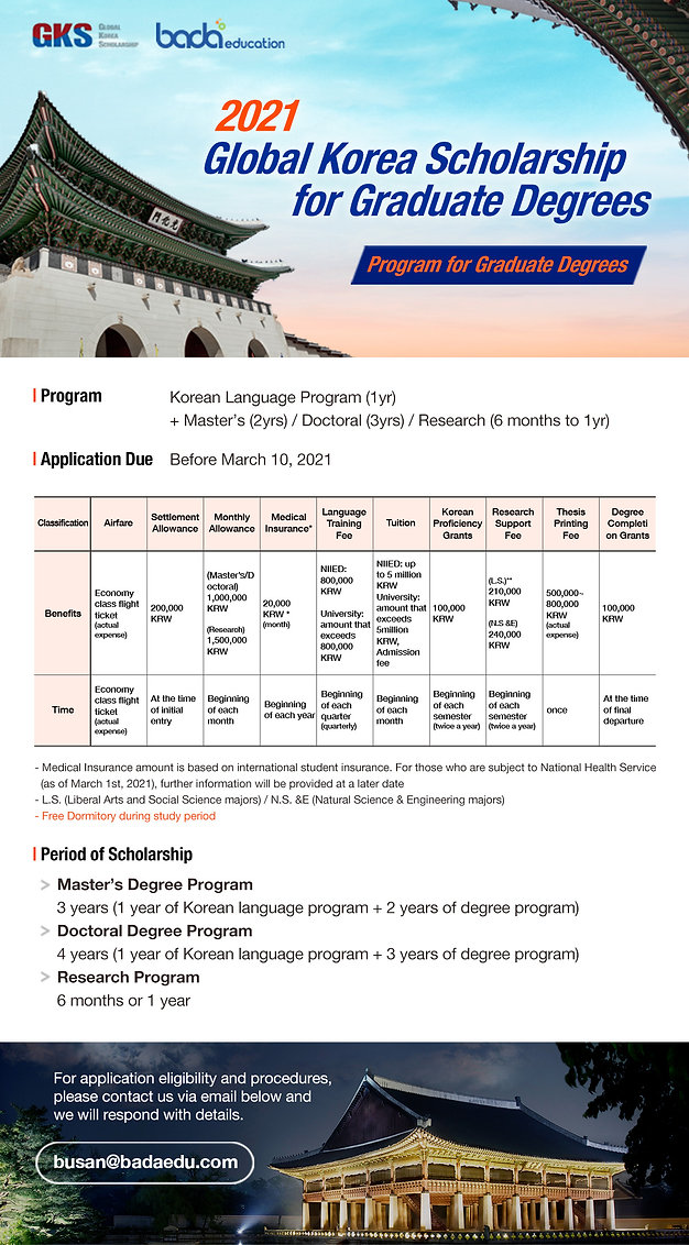 Global Korea Scholarship 2021