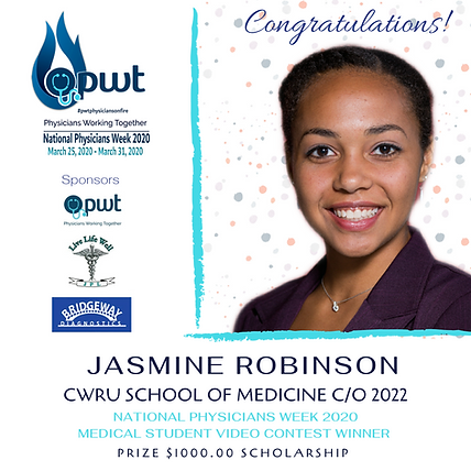 2020 Medical PWT Student Scholarship Win