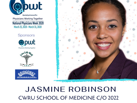 2020 Physicians Working Together Medical Student Scholarship Winner Jasmine Robinson