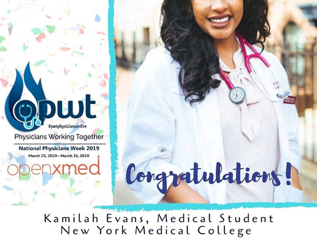 2019 National Physicians Week Medical Student Dance Contest Winners-$1000.00 Scholarship