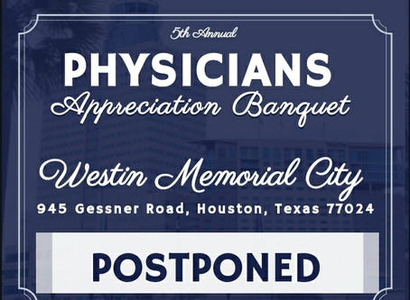 Physicians Working Together's 5th Annual Physician's Appreciation Banquet Postponed