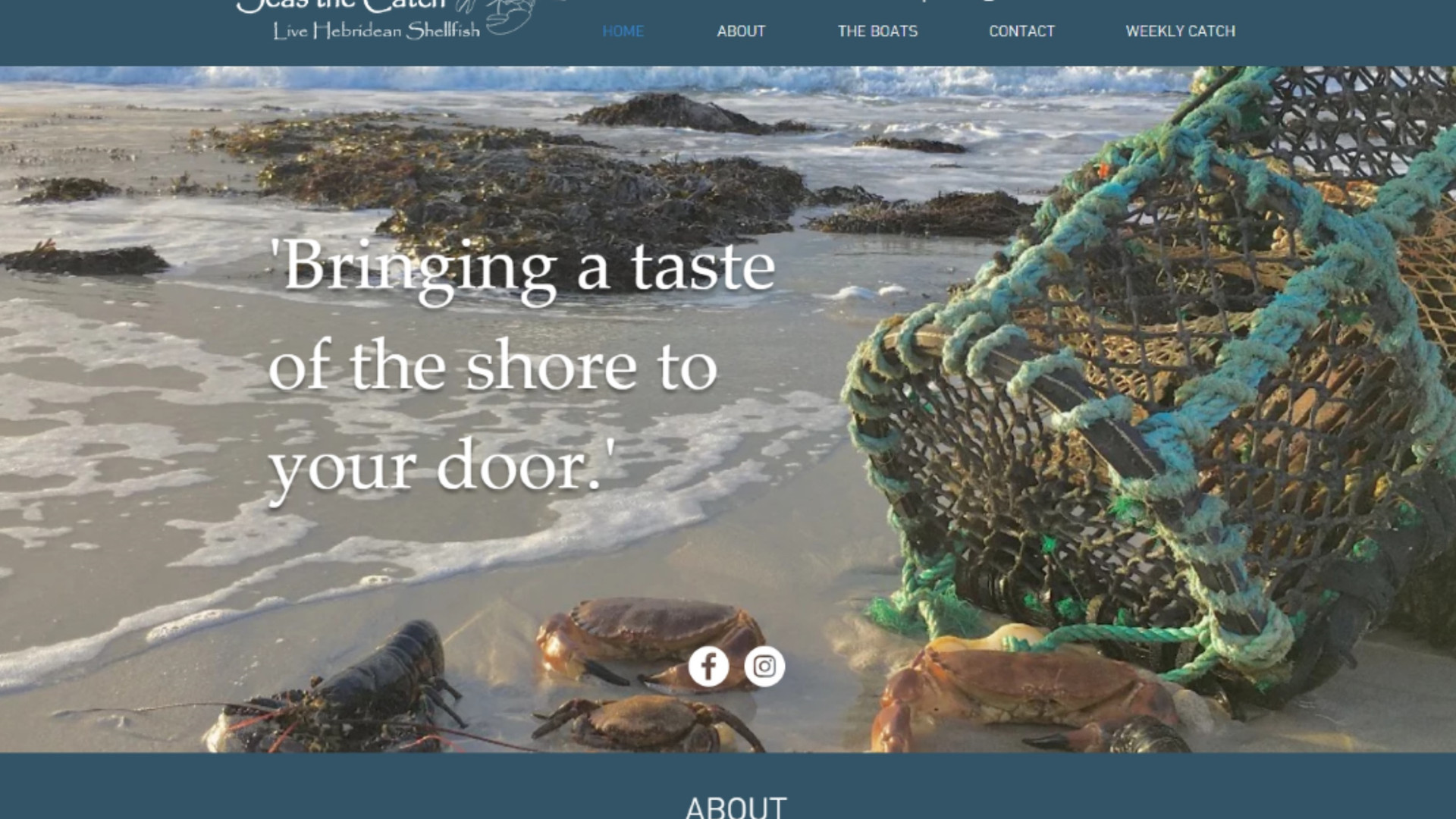 Seas the Catch - Website