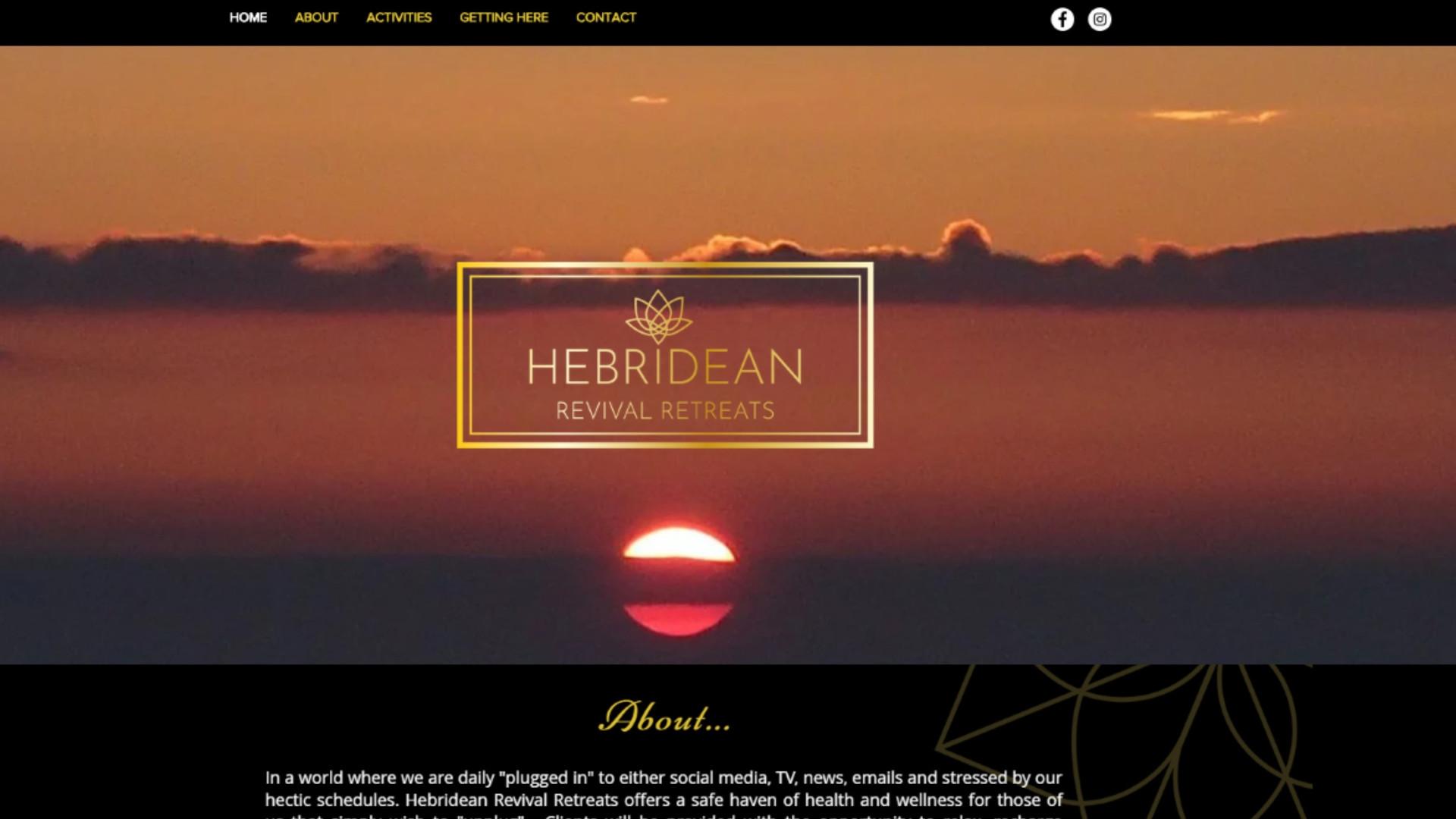 Hebridean Revival Retreats - Website