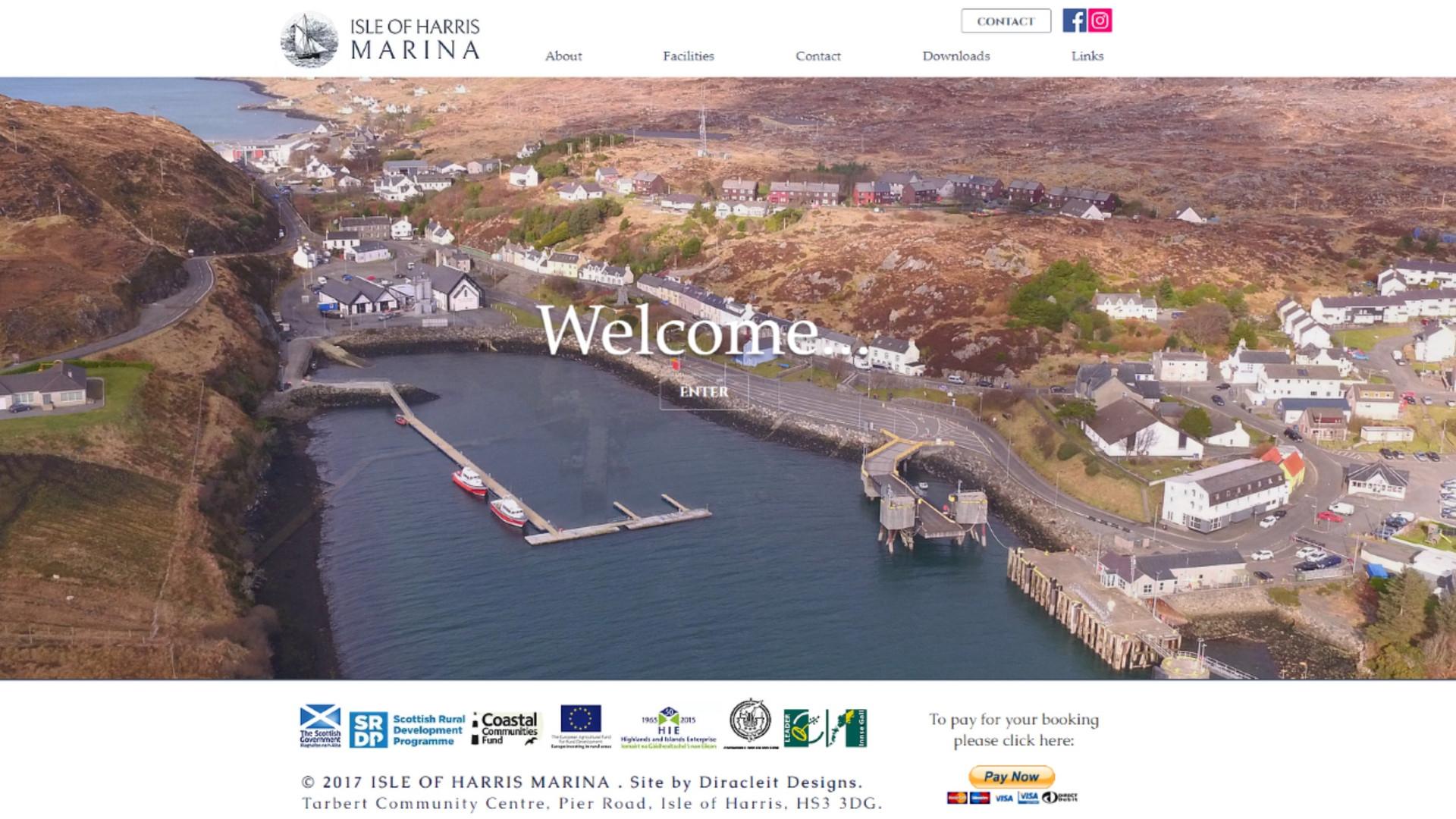 Isle of Harris Marina - Website