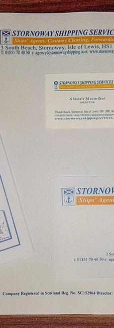 Stornoway Shipping Services - Stationary