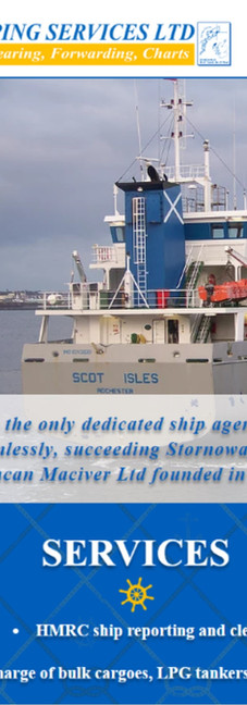 Stornoway Shipping Services - Website