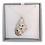 Thumbnail: Mussel Shell Hand Cast Pendant with 3 Amethyst Cz