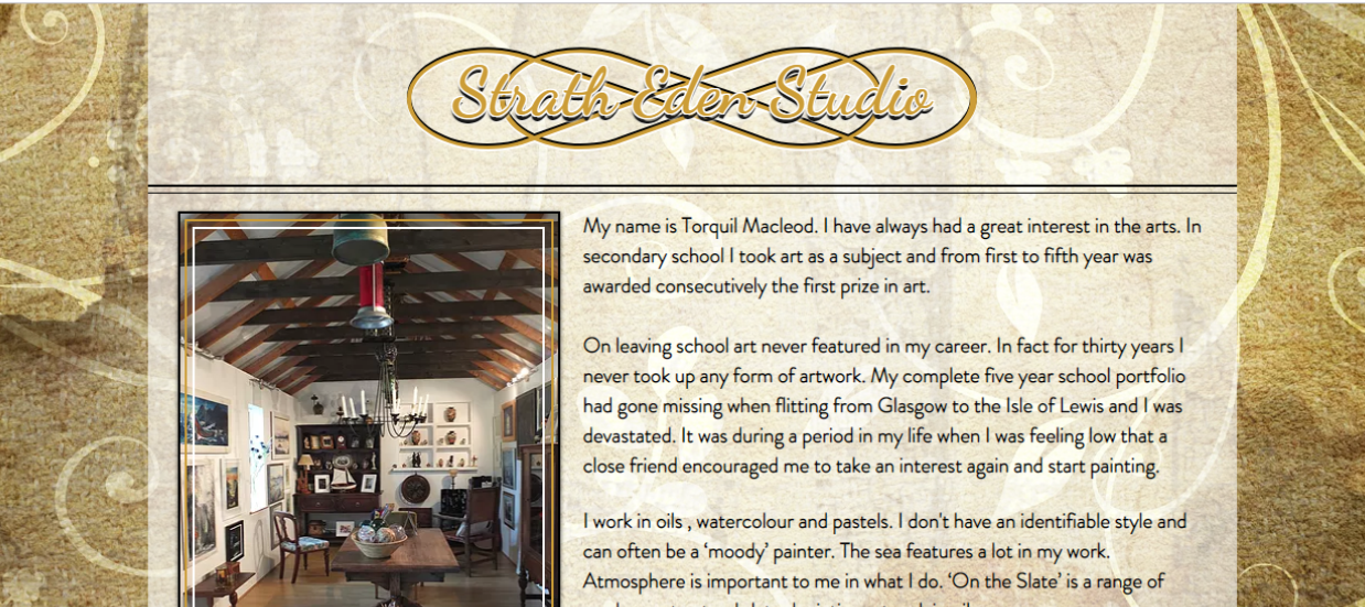 Strath Eden Studio - Website
