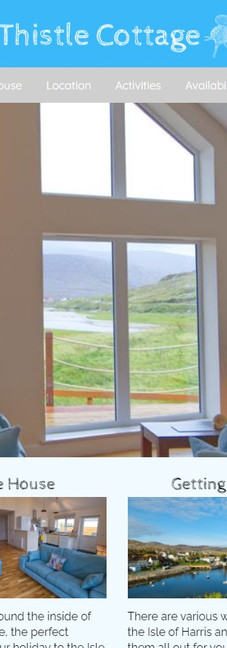 Thistle Cottage - New Website & Booking Facility