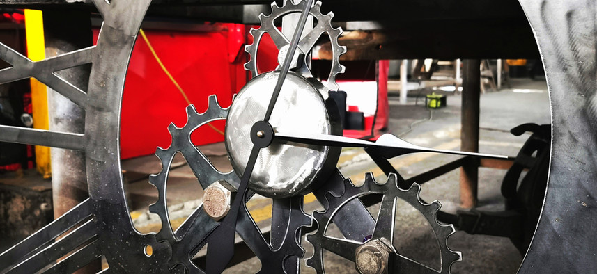 Reloj tipo industrial para pared