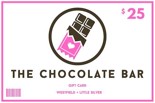 $25 Chocolate Bar Gift Card