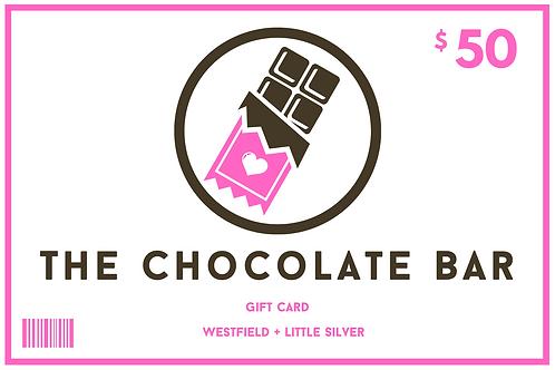 $50 Chocolate Bar Gift Card